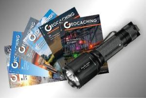 Geocaching Magazin Abo mit Prämie hier Fenix Taschenlamoe TK25UV