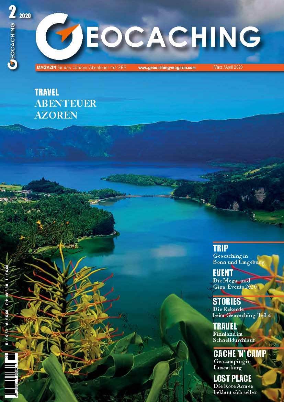 Titelseite Geocaching Magazin März und April 2020 - Azoren