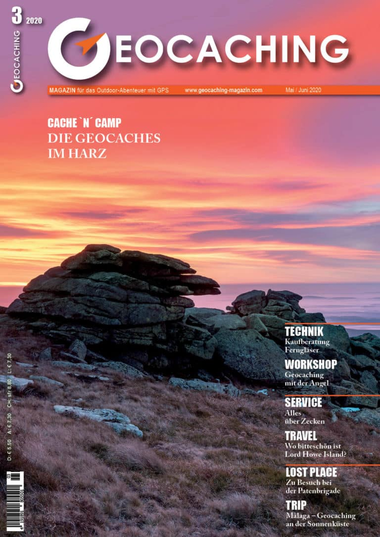 Titelbild Geocaching Magazin Mai/Juni 2020