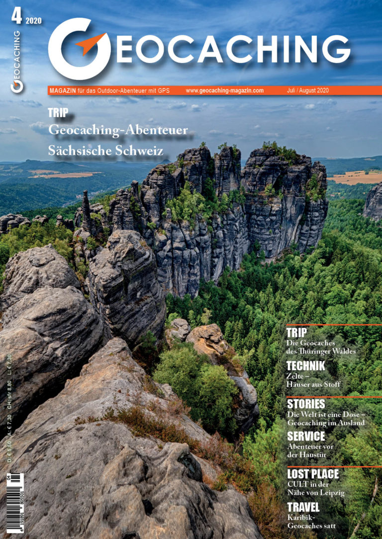 Titelbild Geocaching Magazin Juli/August 2020