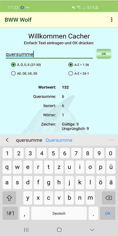 Geocaching Apps BWW Wolf