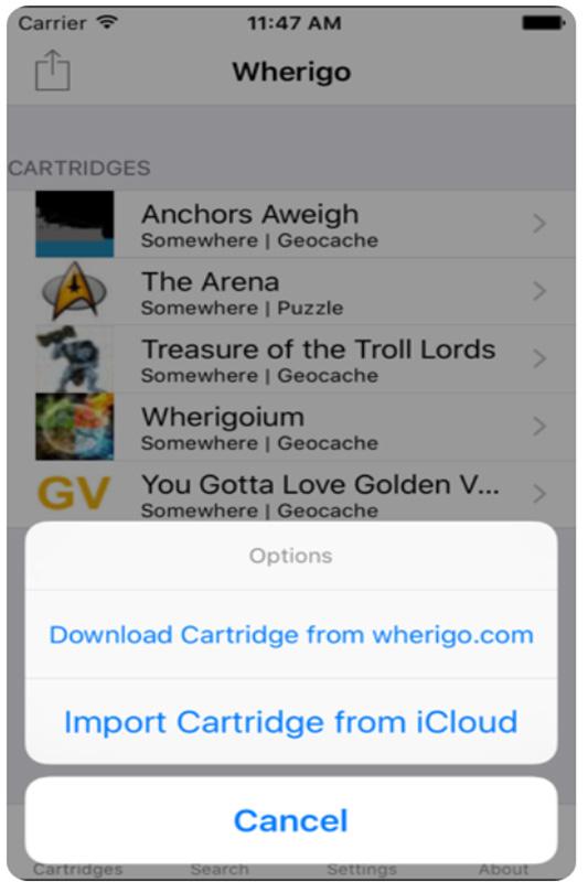 Geocaching Apps: Wherigo Cartridge