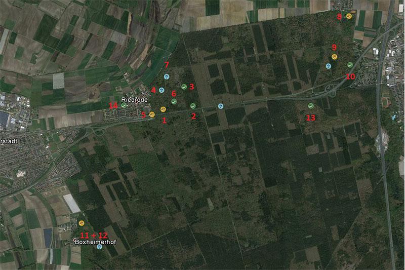 Sateliten Bild von Riedrode und umgebung