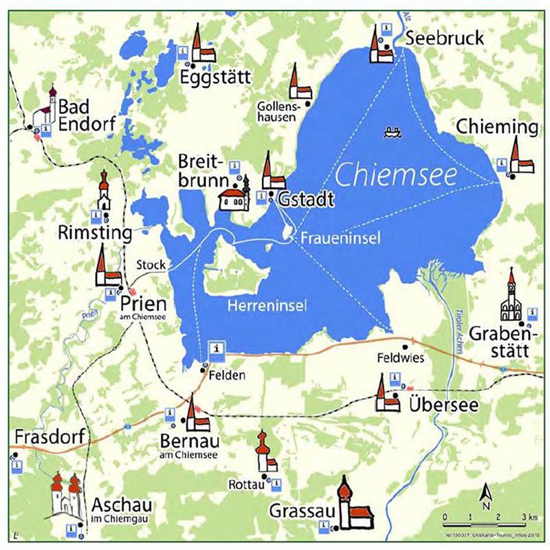 Karte vom Chiemsee
