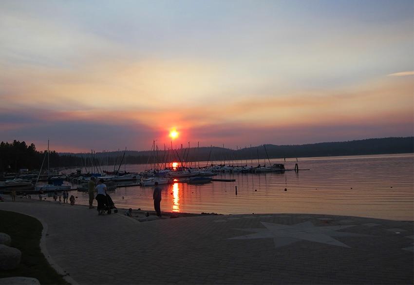Sonnenuntergang Payette Lake