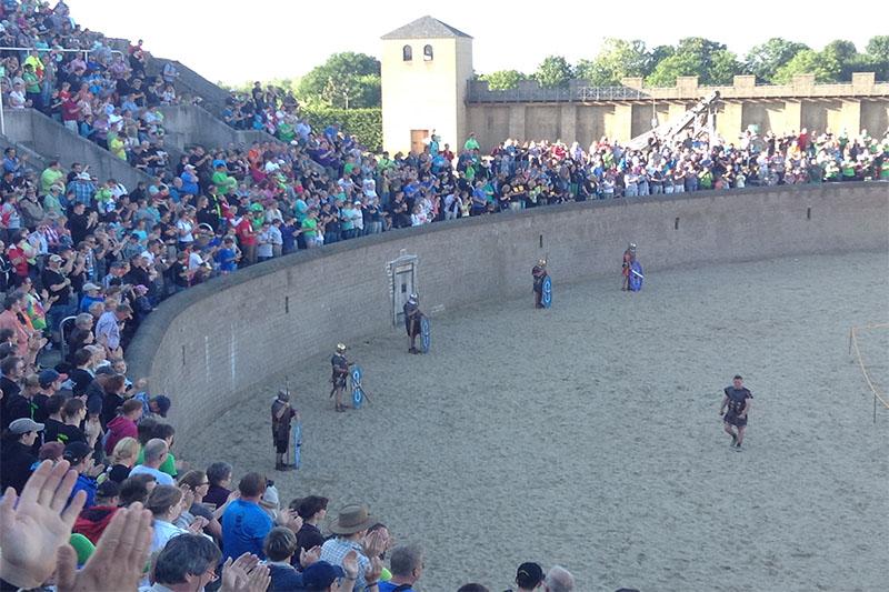 Arena mit Gladiatoren