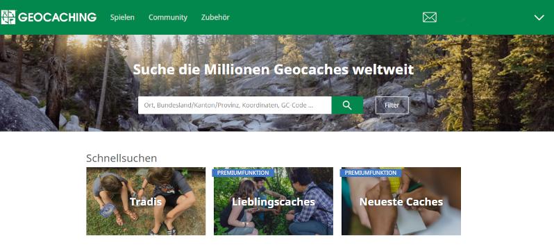 Geocaching Erklärung Startseite
