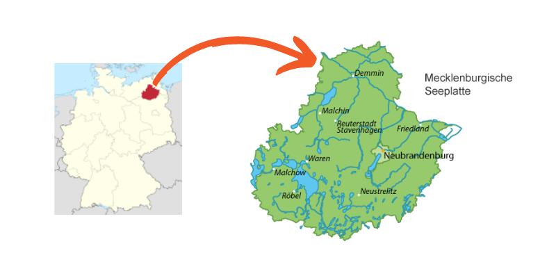 Karten Mecklenburgische Seenplatte
