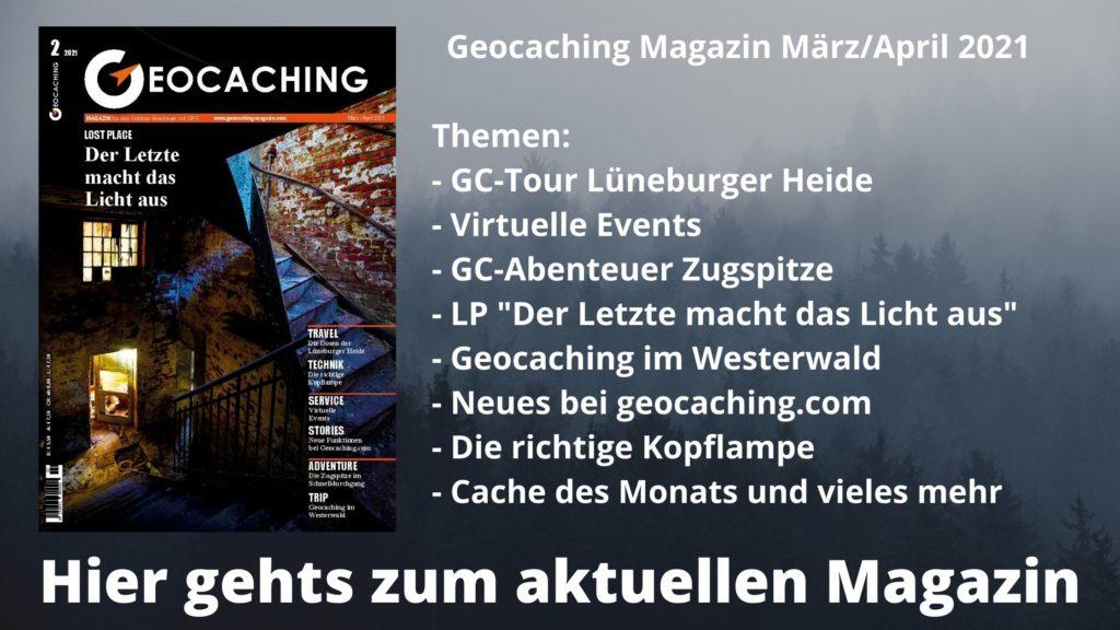 Werbeanzeige Geocaching Magazin Mai/Juni 2020