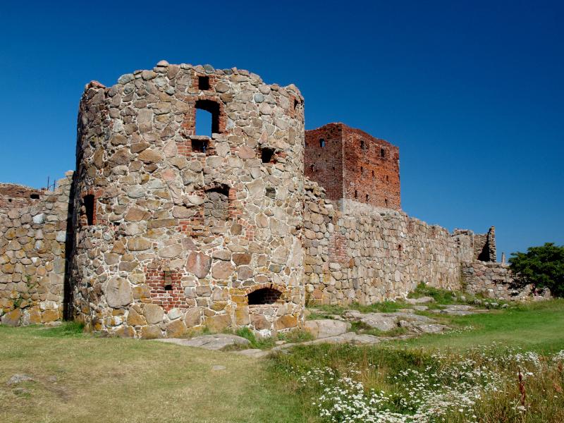Burgruinenreste vergangener Zeiten