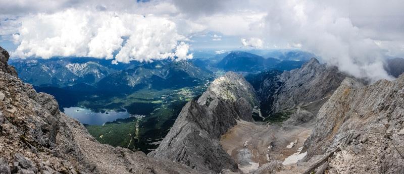Panorama Blick Zugspitze Earthcaches