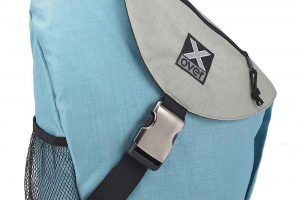X-Over Geocaching Rucksack in der Farbe Carribean See hellblau