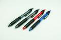 Geocachingschreibgerät, Outdoor-Kugelschreiber, 4er-Set schwarz, schwarz, blau, rot